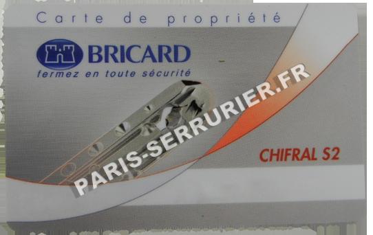 Carte de propriété Bricard