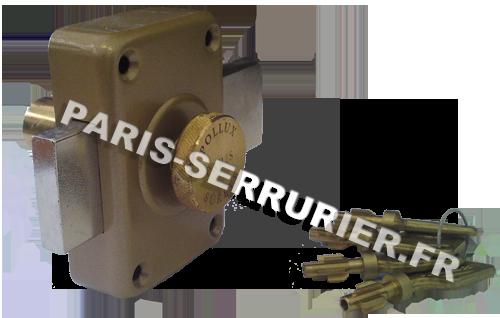 Verrou Pollux à pompe à bouton - Cylindre 40 mm