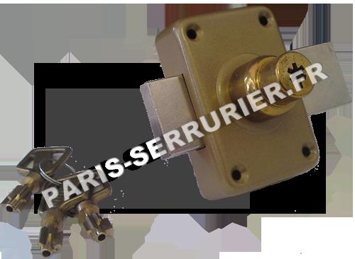 Verrou Pollux double entrée à pompe - Cylindre 40 mm